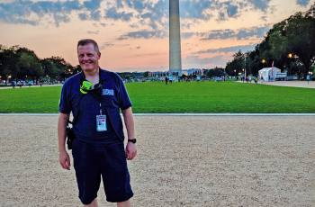 Andrew Garrett, MD, MPH, on the National Mall