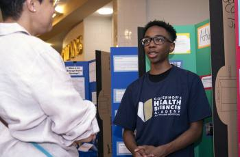 TC Williams HS student participant in Governor's Health Sciences Academy